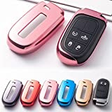 1x Glossy Rose Gold TPU Smart Key Remote Keyless Cover FOB Holder Case For Jeep