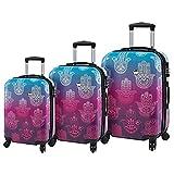 Mia Toro ITALY Love This Life-Hamsa Hardside Spinner Luggage Set - 3 Piece [20'', 24'' & 28'']