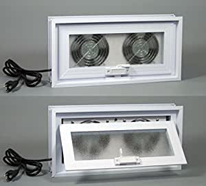 Basement Or Crawl Space Window With Fans 16 Quot W X 8 Quot H