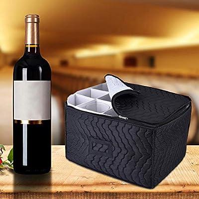 wisedwell Glassware Storage Box - Caja para 24 Copas de Vino ...