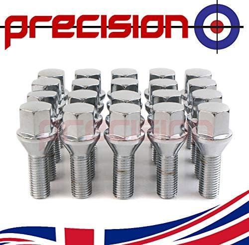 Precision 20 x Chrome Wheel Bolts for Śaab 95 PN.SFP-20BM17193
