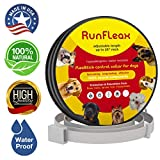 Flea Tick Collar Made in Germany (8 Months) - Natural Herbal Non-Toxic Adjustable Prevention Control for Dogs Cats Flea Collar Waterproof Protection for Large Medium Small Pet Repels Fleas Lice Ticks
