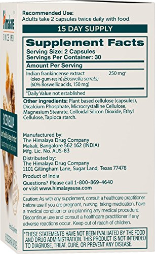 51SodFq9MiL - Himalaya Pure Herbs Boswellia, Joint Support, 60 Capsules