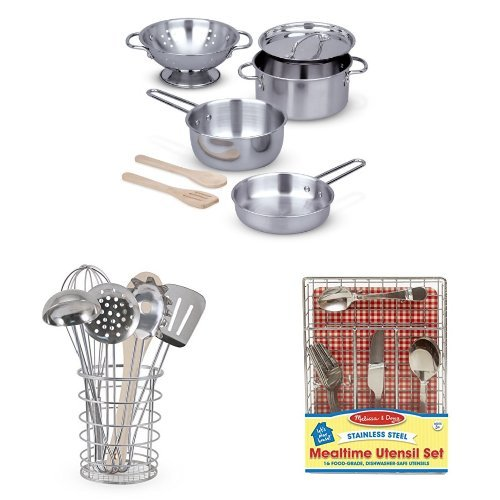 Kitchen Play Set Bundle - Pots, Pans and Utensils