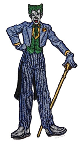 """Batman Classic Series The Joker Decked Out Standing Pose 5"""" Tall Embroidered Patch"""