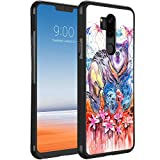 KASOS Case for LG G7 ThinQ [Anti-Skid Raised Edge] Shock Resistant Protective Slim TPU Bumper and PC Lightweight Cover Case Watercolor Butterfly Mammal