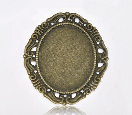 Housweety 30 Bronze Tone Cameo Frame Settings 5.3x4.4cm: Amazon.co ...