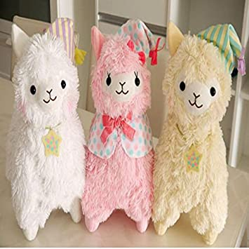 35cm Brinquedo Good Night Alpaca Toy Dolls Adorable Fluffy Japanese Alpacasso Plush Toys Peluches Animals Alpaca