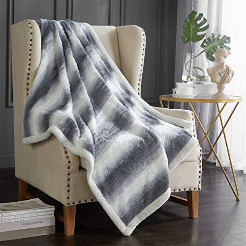Hyprest Luxury Sherpa Fleece Throw Blanket for Bed Couch, Double-Sided Super Soft Luxurious Plush Blanket 50