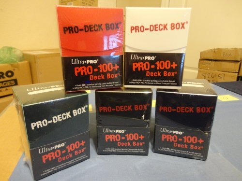 ULTRA PRO MTG Deck Box *Set of (5) PRO 100+* Magic Black Red Green Blue White w/Divider