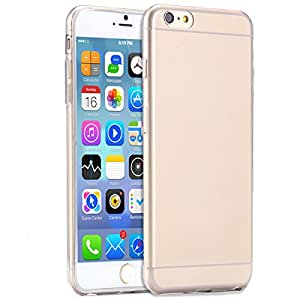 2015 New ! 0.3mm Ultra thin TPU Clear Case for iphone 6 Plus Slim Phone Back Transparent Pink black Cover for iphone6 5.5 --- Color:Blue