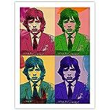 Mick Jagger Warhol Style Pop Art Mug Shot Photo Poster Handmade Giclée Gallery Police Arrest Mugshot Print The Rolling Stones (18x24)