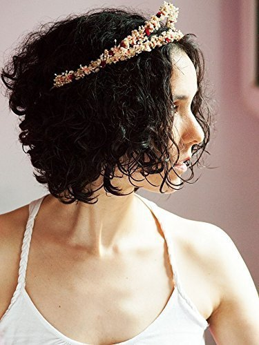 Bridal classic tiara princess headpiece fine vintage inspired white pink and maroon daisies tiara crown classic wedding simple bridal wreath handmade by Ritaflowers