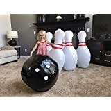 THE BIGGEST!! Strikes and Spares Jumbo Inflatable Bowling Set - Great FUN for all Ages - Bigger than all the competition. 40 inch tall pins! Ball 25 inch! - includes FREE PUMP!!!!!