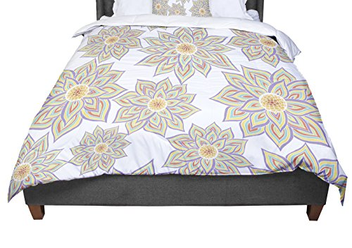 KESS InHouse Pom Graphic Design ''Floral Dance'' King / Cal King Comforter, 104'' X 88'' by Kess InHouse