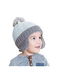 TRIWONDER Winter Hats for Kids Beanie Knit Cap Pom Pom Hat Wool Ski Cap