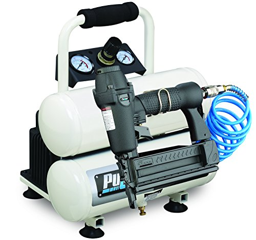 Pulsar Products PCE6020TKN Twin Tank Air Compressor with Nailer, 2 Gallon