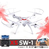 Creazy2.4G 4CH 6-Axis FPV RC Drone Quadcopter Wifi Camera Real Time 2 Control Modes(X5SW-1-WH)