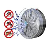 Amazing Solar Powered UV Lamp Light Fly Insect Bug Mosquito Kill Electric Trap Killer Indoor outdoor