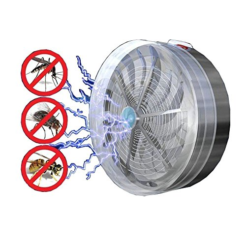 Howley Solar Powered Buzz UV Lamp Light Fly Insect Bug Mosquito Kill Zapper Killer -