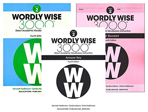 Wordly Wise 3000® 4th Edition Grade 2 SET -- Student Book, Test Booklet and Answer Key (Direct Academic Vocabulary Instruction) - 4th Grade Set