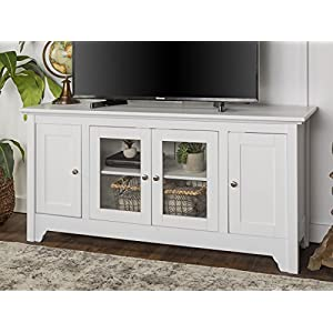 WE Furniture 52″ Wood TV Media Stand Storage Console