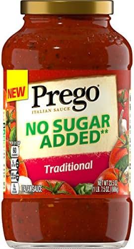 Pasta Sauce: Prego No Sugar Added