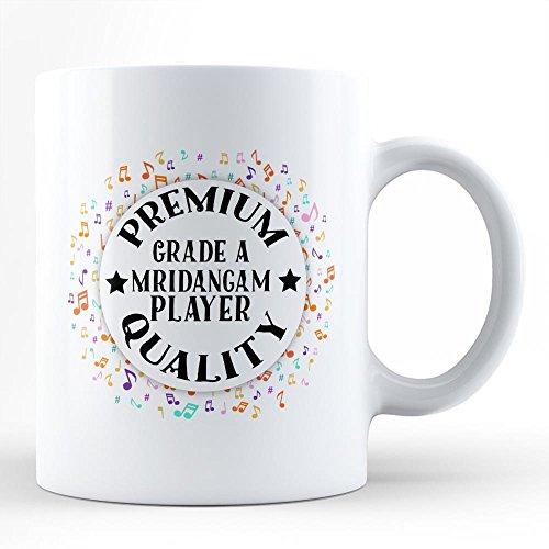 Mridangam Player Music Hobby Passion White Coffee Mug By HOM Best Mridangam Instrument Player Affordable -
