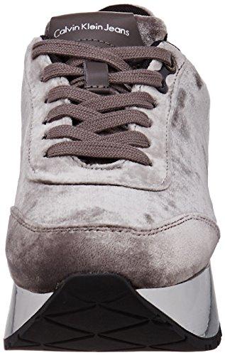 Sneaker Dames Certi Velours Argent Calvin Multicolore Klein argent Axfdnfg