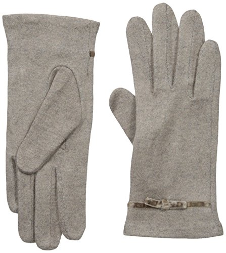 Gloves International Women's Wool Blend Gloves with Bow, Medium Brown, Large/X-Large