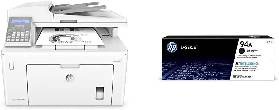 HP Laserjet Pro M148fdw All-in-One Wireless Monochrome Laser Printer with Auto Two-sided Printing, Mobile Printing, Fax & Built-in Ethernet (4PA42A) with Standard -Toner Bundle