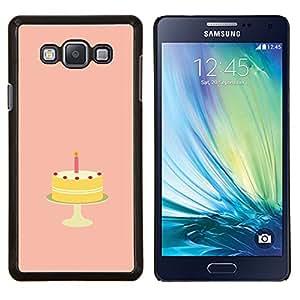 EJOOY---Cubierta de la caja de protección para la piel dura ** Samsung Galaxy A7 A7000 ** --Torta de cumpleaños de Azúcar Dulces caramelo Arte
