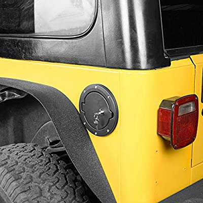 u-Box Jeep TJ Gas Cap Fuel Tank Cover with Lock for 1997-2006 Jeep Wrangler TJ & LJ: Automotive