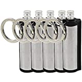 ETOPSTECH Set of 5 Forever Match, Metal Match, Flints, Camping, BBQ,Emergency Fire Starter Permanent Match Keyring