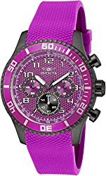Invicta Mens Specialty Japanese Quartz Chronograph Purple Polyurethane Strap Watch