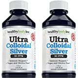 (2 Bottles) Pure Colloidal Silver 30 PPM Vegan and Gluten Free Colloidal Silver Nano Liquid Silver (Two 4oz. bottles 118ml)