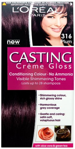 loreal paris casting creme gloss hair colourant 316 plum - Coloration Casting Crme Gloss