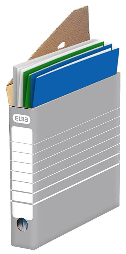 Elba 83423 - Caja archivadora para archivador o para colgar (10 unidades), color