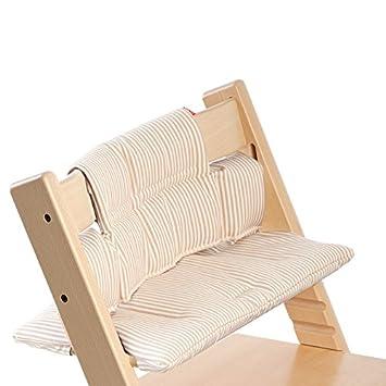 Beige Stripes Stokke Tripp Trapp Cushion