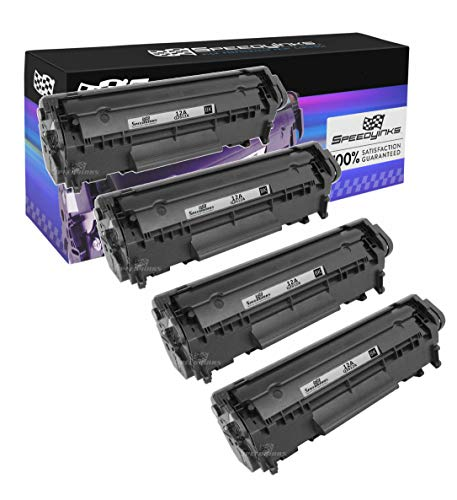 Speedy Inks - 4PK Remanufactured Replacement for HP 12A Q2612A Black Laser Toner Cartridge for use in HP LaserJet 1012, 3015, 3020, 3030, 1010, 1020, 1022, 1022n, 1022nw, 1018, 3050, 3052, 3055, M1319 1010 Remanufactured Toner Cartridge