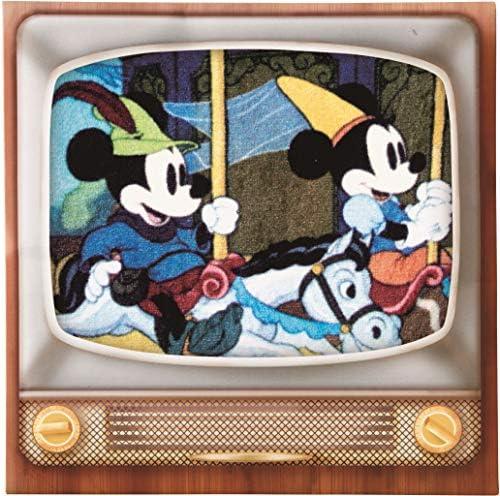 丸眞 ハンドタオル ディズニー ミッキー 20×20cm メリーゴーランドテレビ 綿100% 2005090300