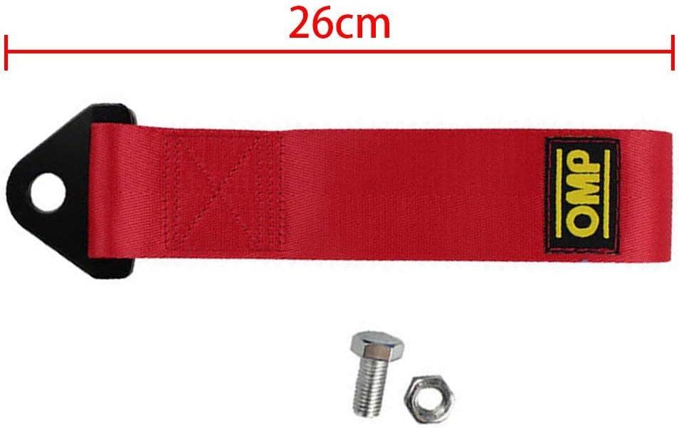 Haute r/ésistance Sangle de remorque en nylon pour pare-chocs avant arri/ère Marque d/écorative free size Red