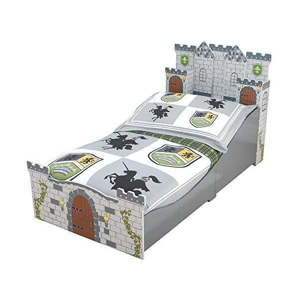 KidKraft Boy's Medieval Castle Toddler Bed 1