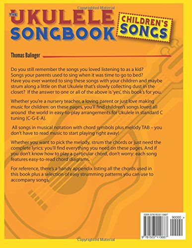 The Ukulele Songbook Childrens Songs Thomas Balinger