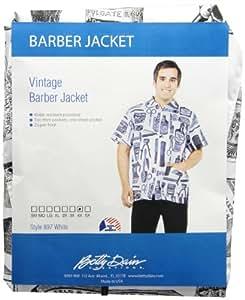 Betty Dain Betty Dain Vintage Barber Jacket, 4X, White, 5.12 Ounce