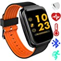 Fitness Tracker Watch with for Men Women Teen – 2018 Health Activity Tracker Smart Watch with Blood Pressure and Heart Rate Monitor for iPhone & Android