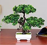 1 Pcs Artificial Bonsai Welcoming Fake Tree Green Plant Pine Trees Potted Decoration (Type 2)