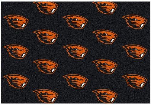 - 9'x12' OREGON STATE - Milliken NCAA College Sports Team Repeat Logo 100% Nylon Pile Fiber Broadloom Custom Area Rug Carpet with Premium Bound Edges