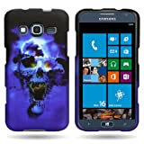 Hard Slim Case Protective Snap-On Cover for Samsung ATIV S Neo by CoverON® - Blue Skull Design