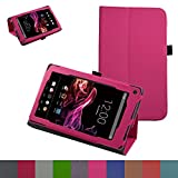 "RCA 7 VOYAGER II Case,Mama Mouth PU Leather Folio 2-folding Stand Cover with Stylus Holder for 7"" RCA 7 VOYAGER II RCT6773W22 2015 Model Tablet,Pink"